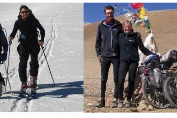 Elie et Toni, à ski et surtout à vélo !