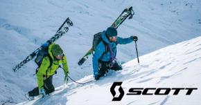 Retrouver tout le matériel de ski de randonnée de chez Scott